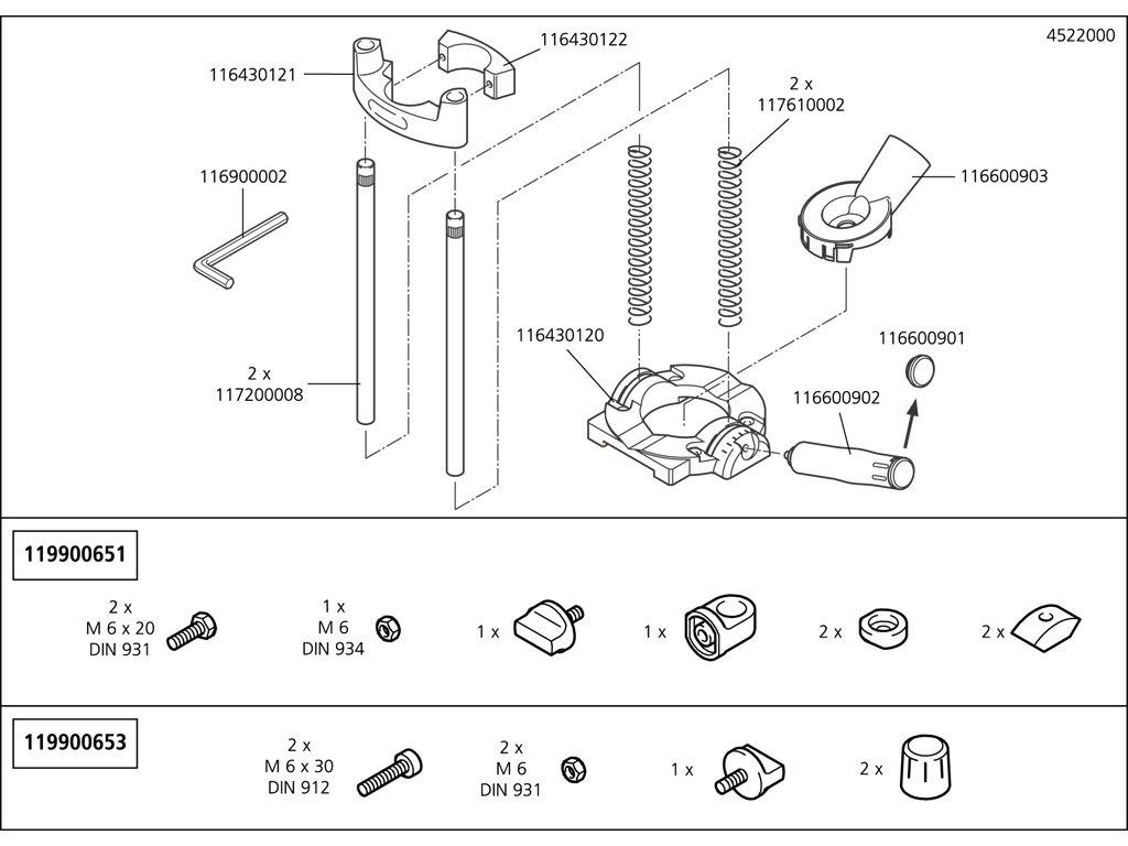 Náhradný diel Cap pro rukojeť 4522(116600901) pro Stojan na vrtačky TECMOBIL 4522000
