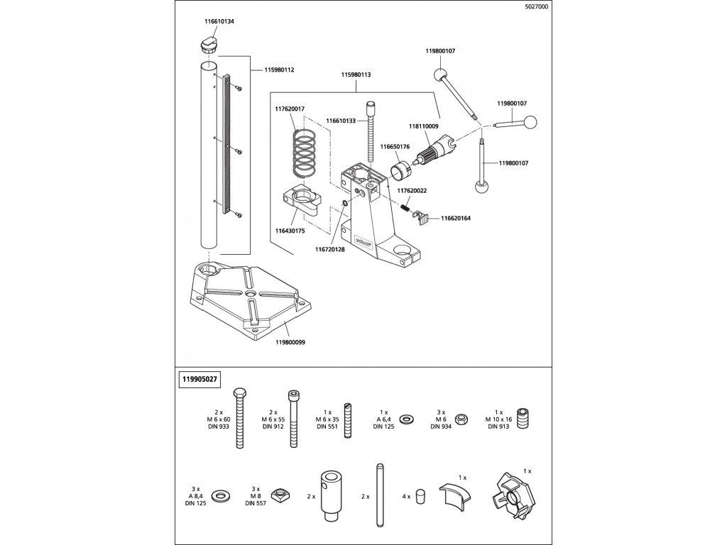 Náhradný diel Zoubkované kroužek ZA10FSt 5023(116720128) pro Stojan na vrtačku EXCLUSIVE 5027000