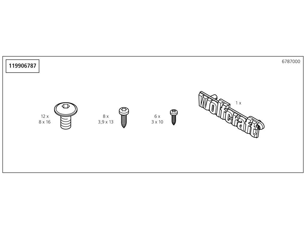 Náhradný diel Příslušenství sáček 6787(119906787) pro 1 pracovní stůl 1130mm, No. 6