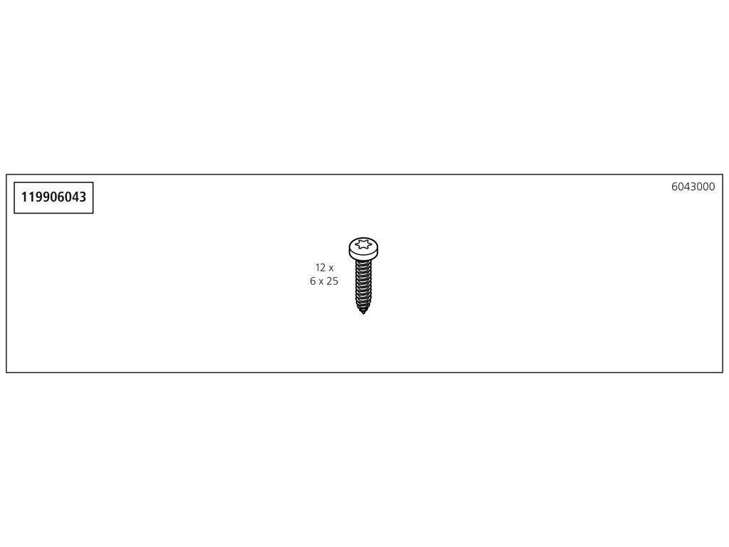 Náhradný diel taška s příslušenstvím 6043/6044/6045(119906043) pro 1 WSS 680 pracovní stůl 1130mm, No. 10