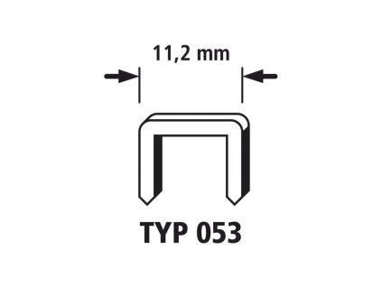Wolfcraft Široké sponky do sponkovačky výška 6 mm 2000 ks 7026000