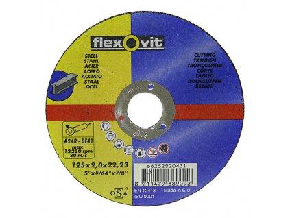 Kotúč flexOvit 20431 125x2,0 A24R-BF41, rezný na kov