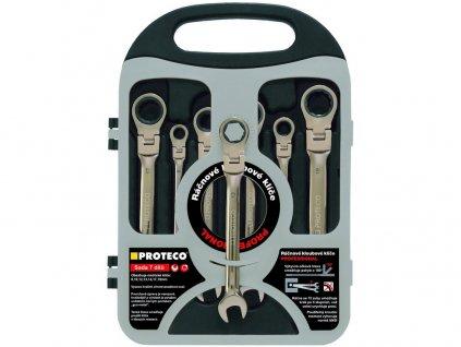 sada račňových kľúčov s kĺbom, 7-dielna (8,10,12,13,14,17,19 mm)