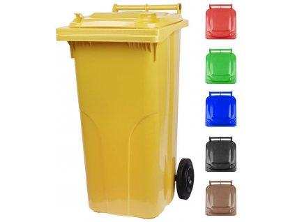 Nadoba MGB 120 lit, plast, čierna, HDPE, popolnica na odpad