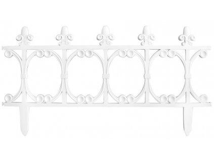 Ohrada Gardens F755, 64x34 cm, plastová, biela, mini dekoračný plot