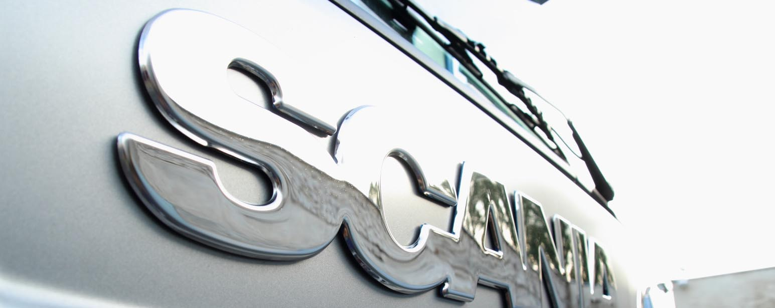 front pressed SCANIA sign