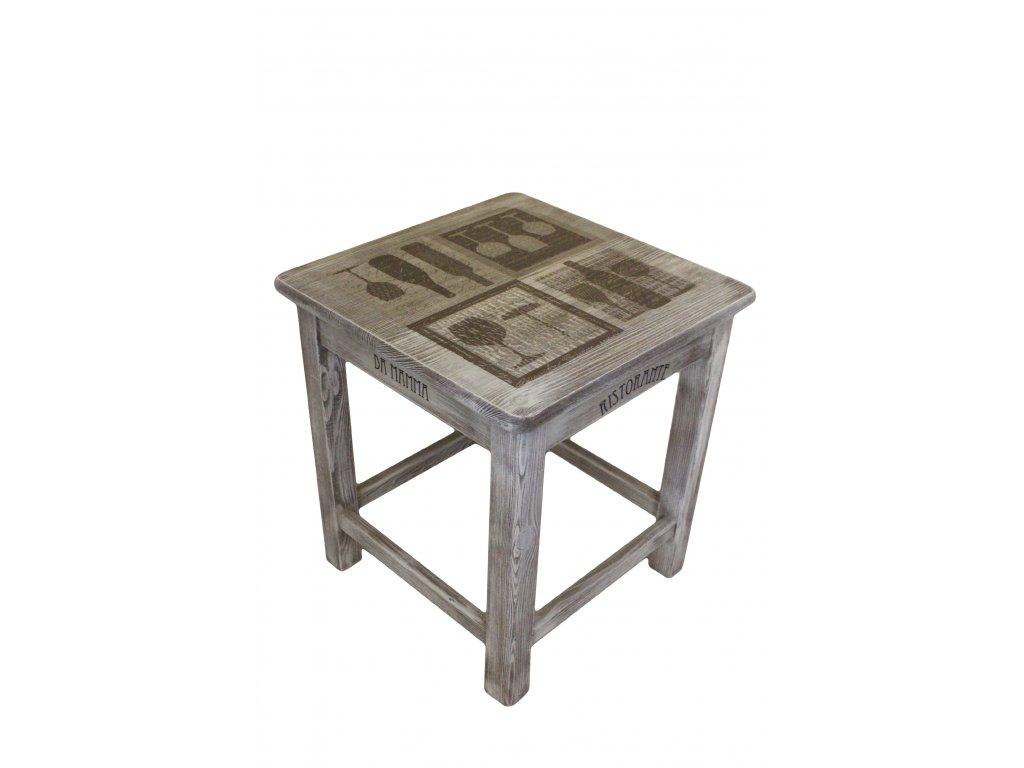 Dřevěná stolička Provence
