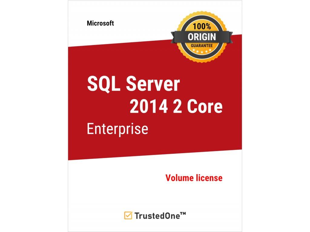 sql server 2014 2 core