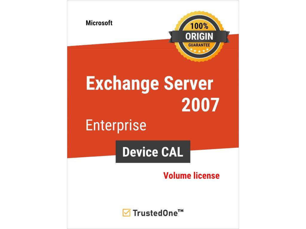 exchange server 2007 enterprise device cal
