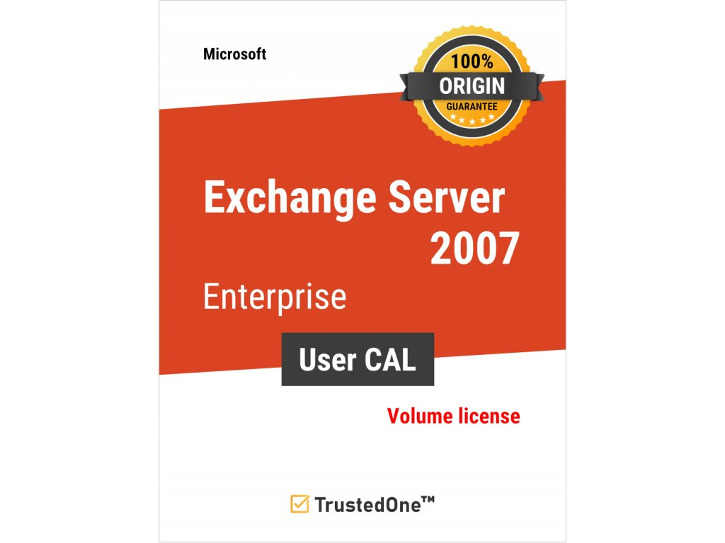 exchange server 2007 enterprise user cal