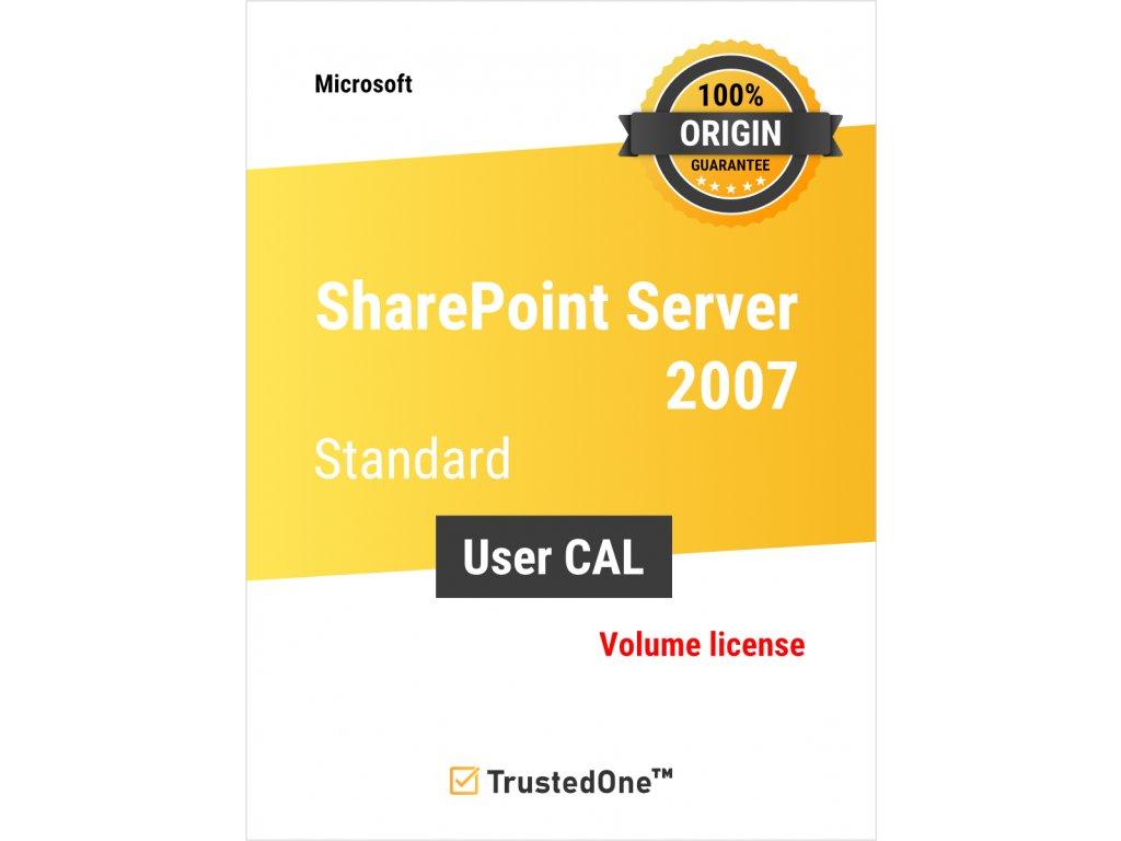 sharepoint server 2007 user cal