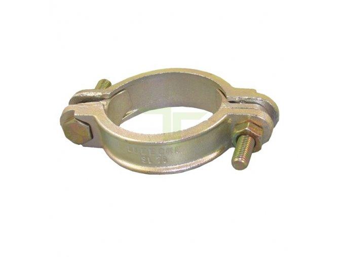 Klemová litinová spona 56-72mm, šířka 25mm