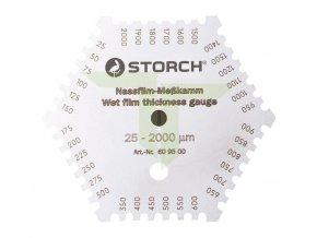 Měřící hřeben 25-2000 mikron., nerez