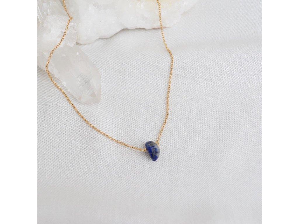 Lapis lazuli pro zanmení střelce stříbrný řetízek