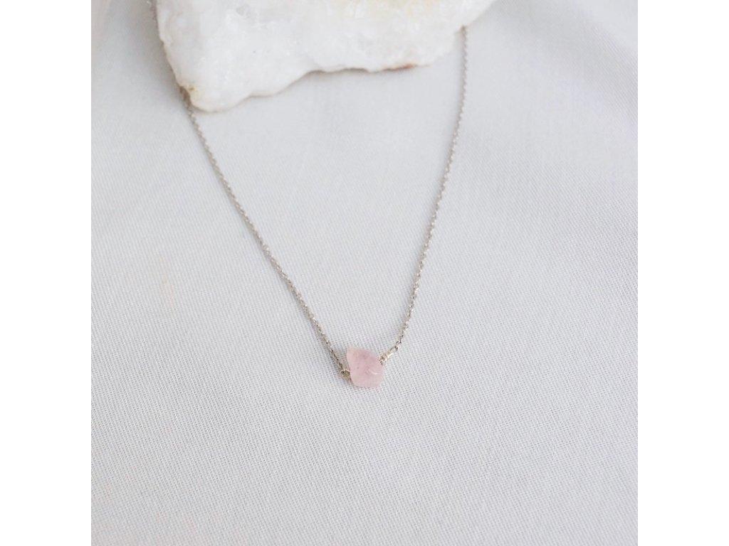 Stříbrný řetízek s růženínem Býk znamení