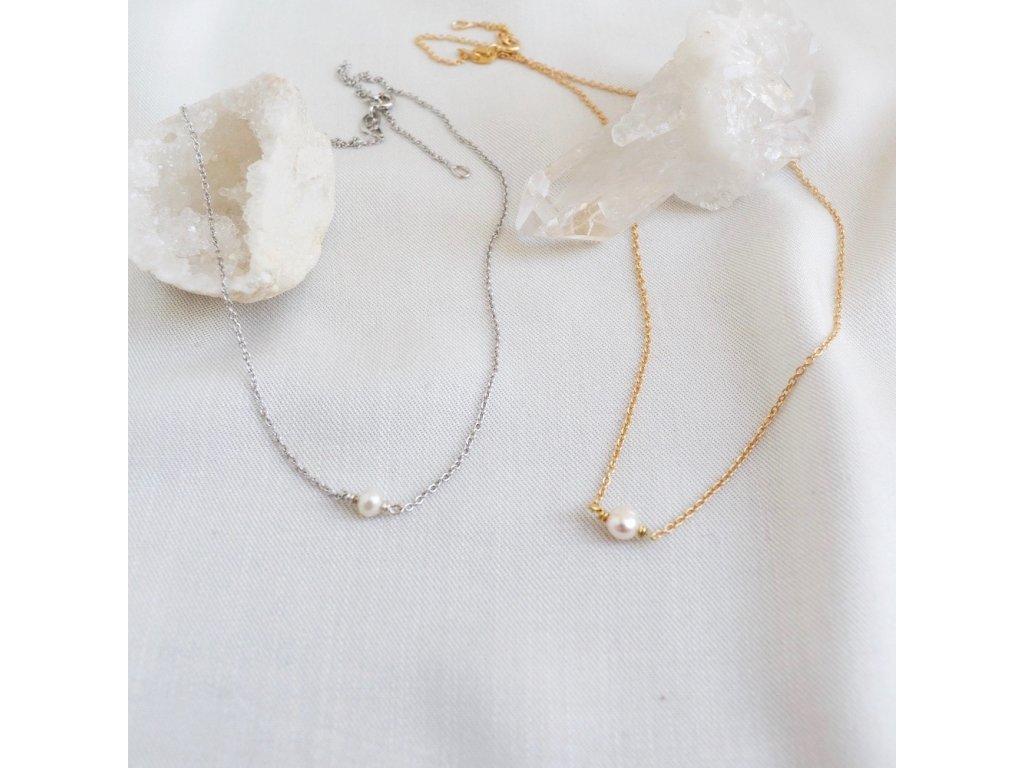 Náhrdelník s perlou Mořská víla choker
