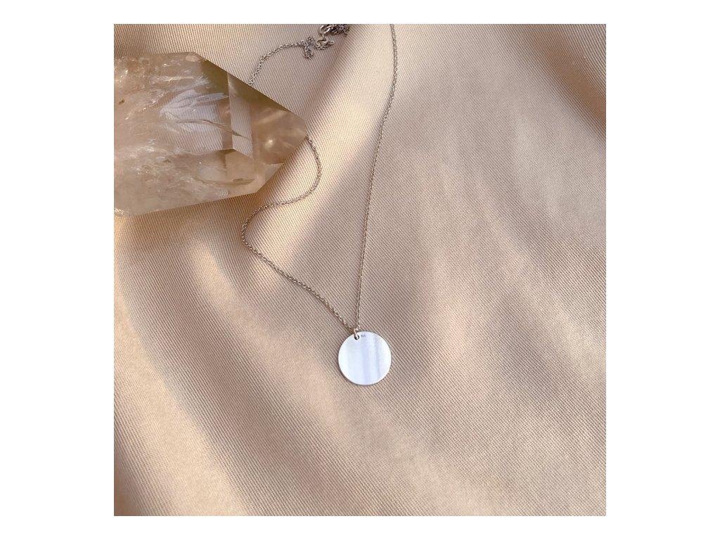 Náhrdelník amulet stříbro Slunce