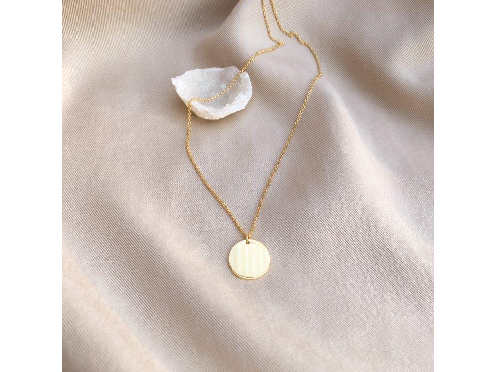 Náhrdelník Slunce zlatý amulet stříbro(2)