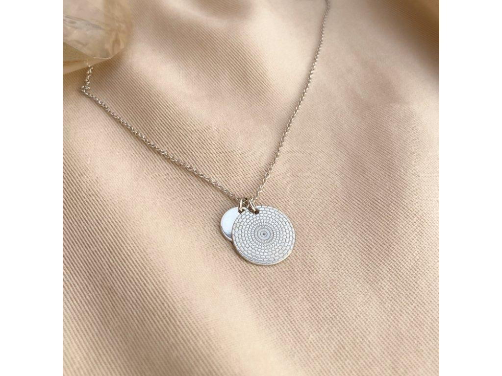 Náhrdelník amulet stříbro Vesmír