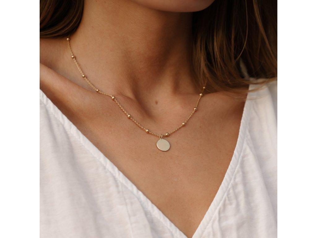 stříbrný náhrdelník Slunce III na kuličkovém řetízku 9