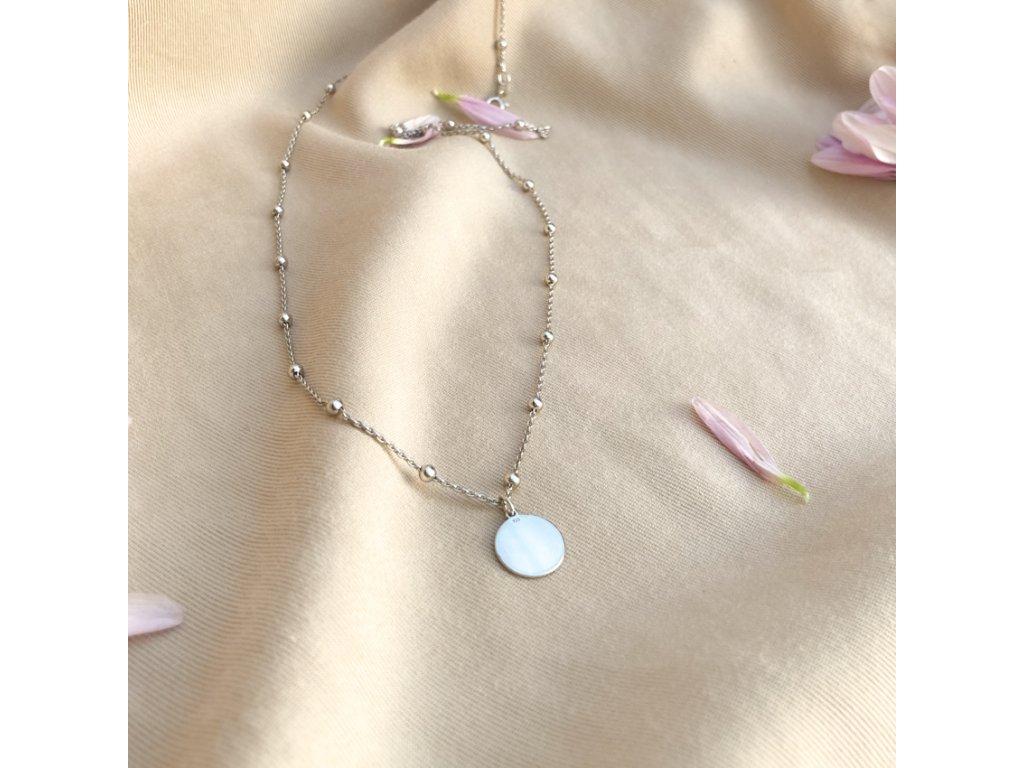 náhrdelník Slunce III na kuličkovém řetízku z řetízku 5