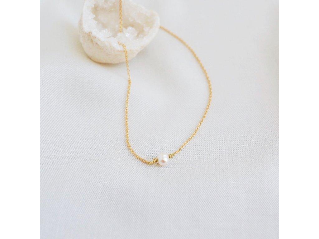 Říční perla stříbrný řetízek choker