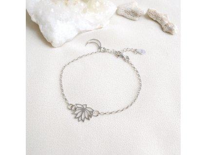 Náramek Lotos stříbro
