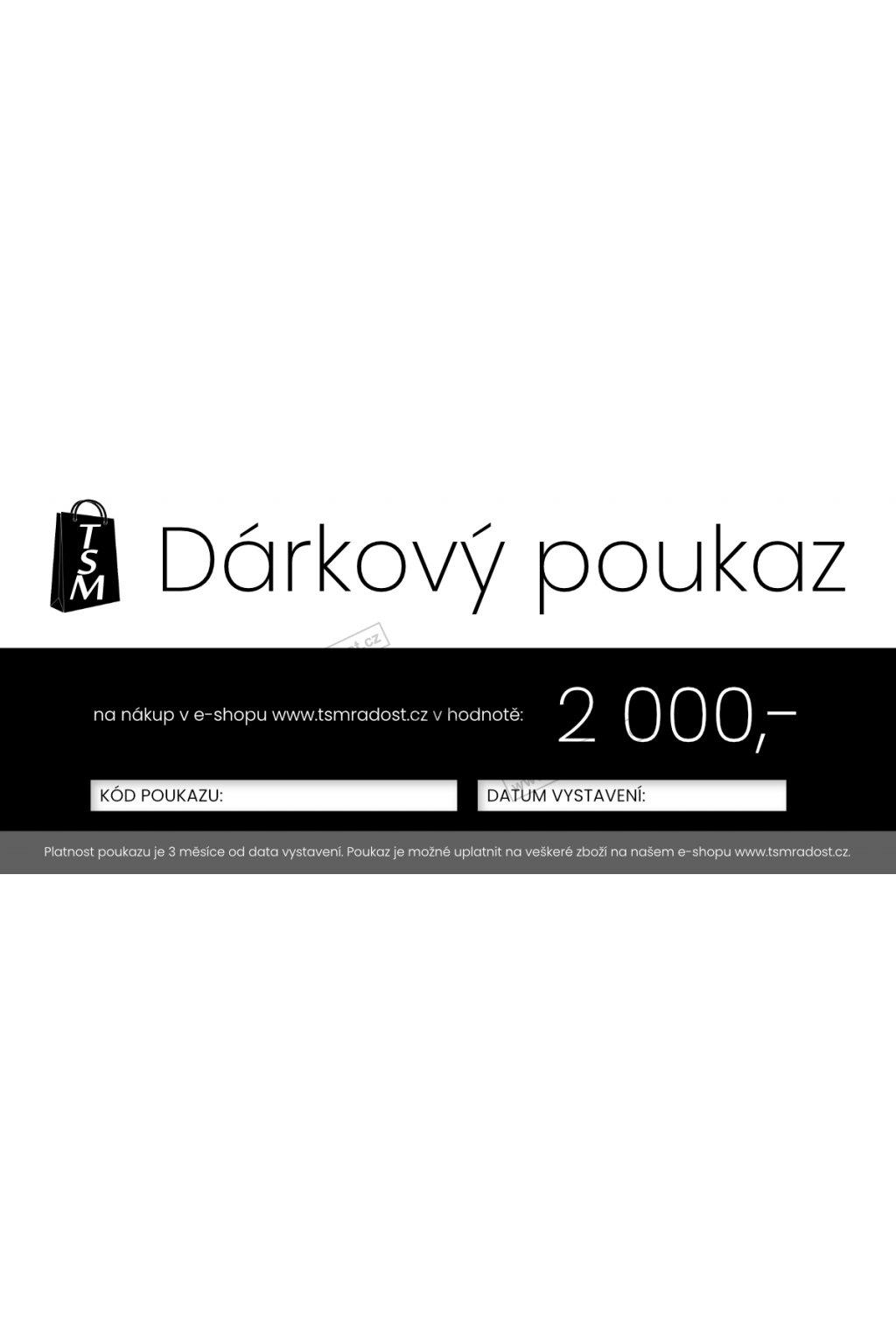 TSM darkovy poukaz1a 2000