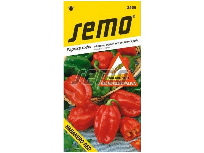 Paprika Habanero red/červená SHU 300 000 jednotek