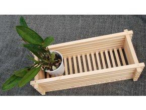 Dřevěný truhlík na orchideje 22 x 50 cm