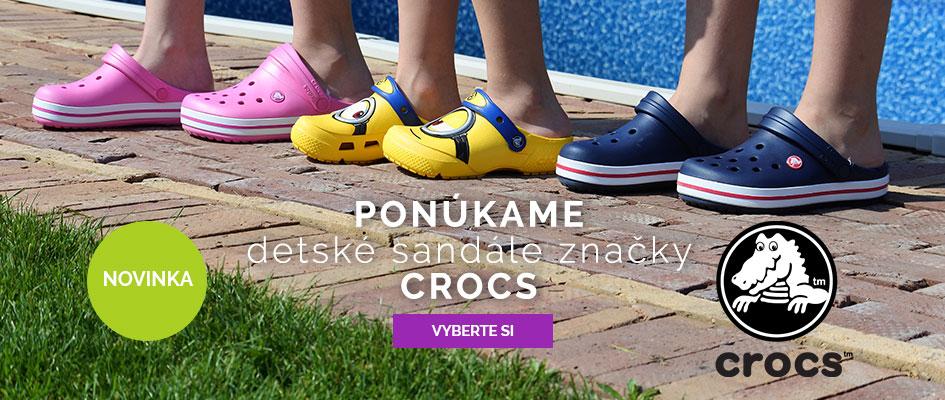 Ponúkame detské sandále značky Crocs