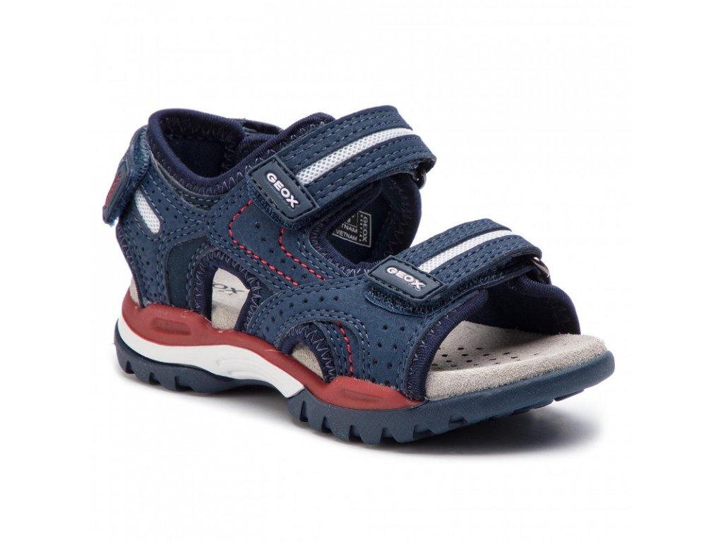 Geox detské sandale J920RD Navy Red