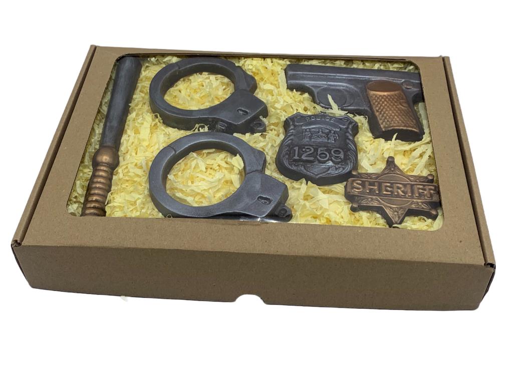 čokoládová sada pro policistu