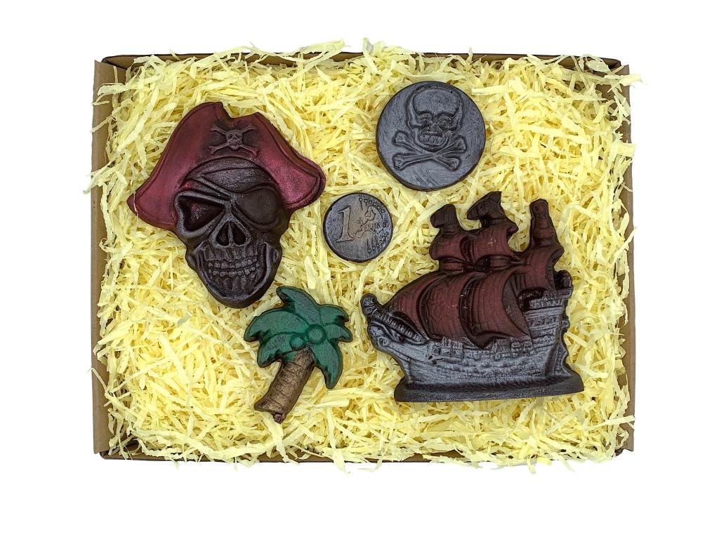 čokoládová sada pro piráta