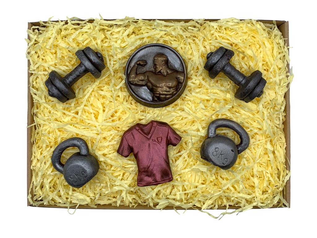 čokoládová sada pro fitness