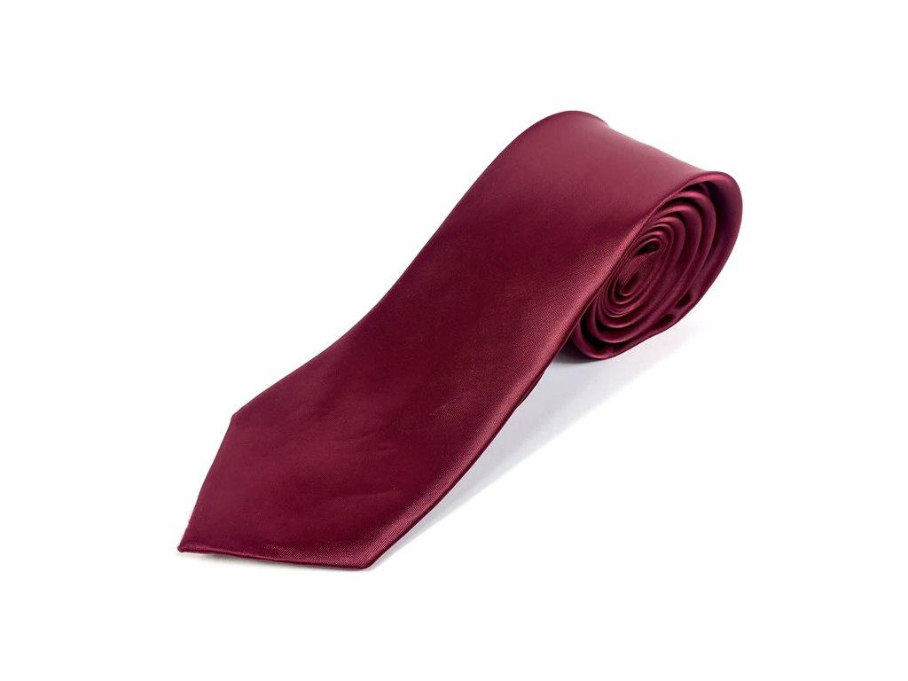 Elegantní Pánská Kravata - Bordová
