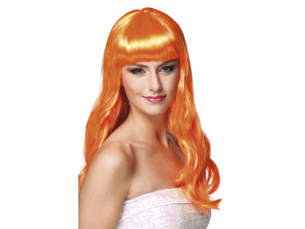 Paruka - Dlouhé Oranžové Vlasy