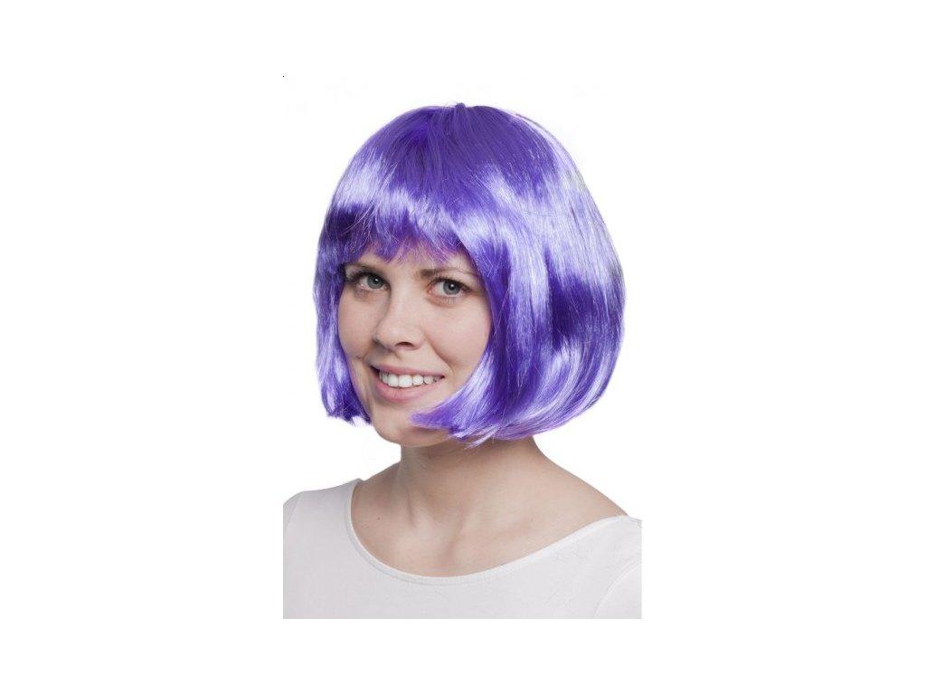 paruka afro fialová