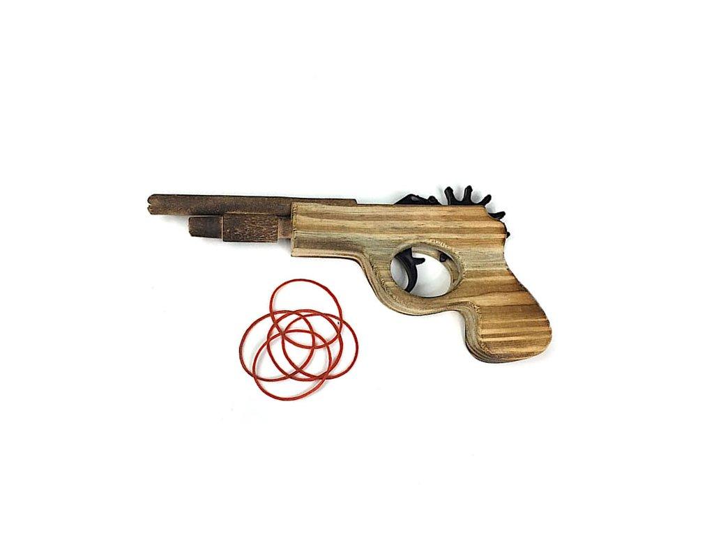33730 drevena pistole na gumicky