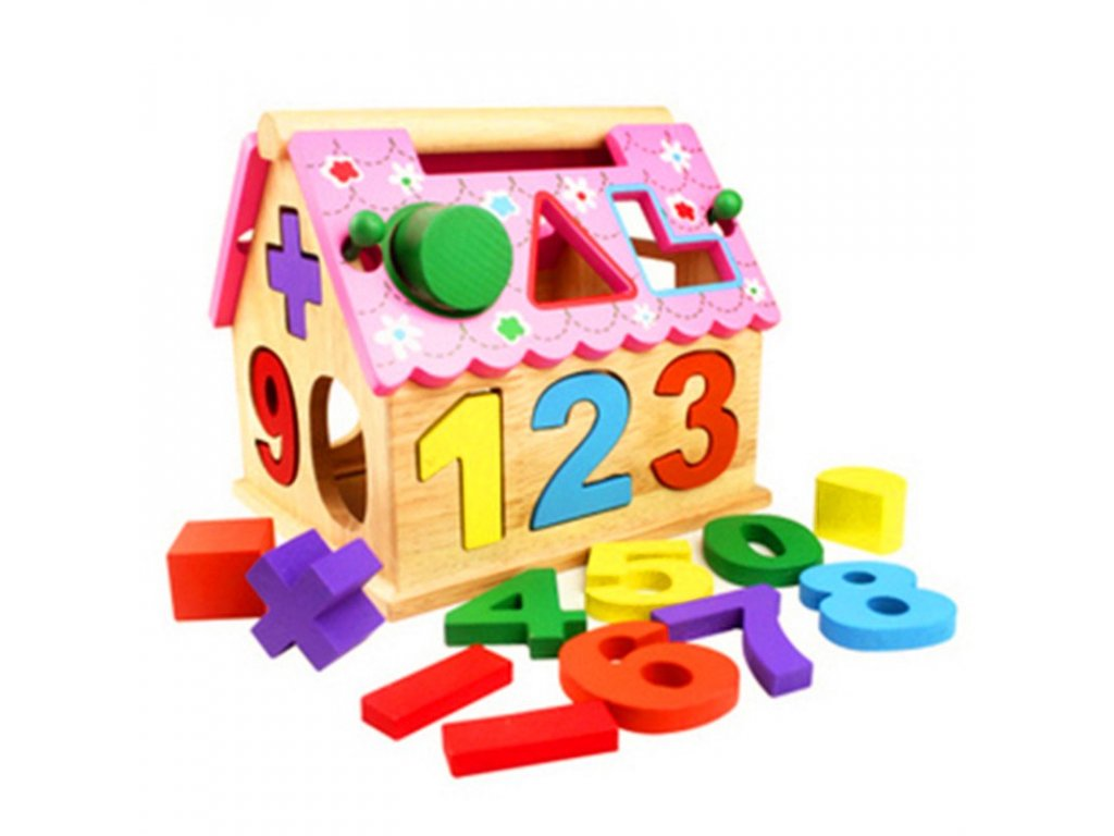 The Wisdom Of Housing Wooden Puzzle Jigsaw Toys For Baby Children Kid Geometry Figure Shape Digital