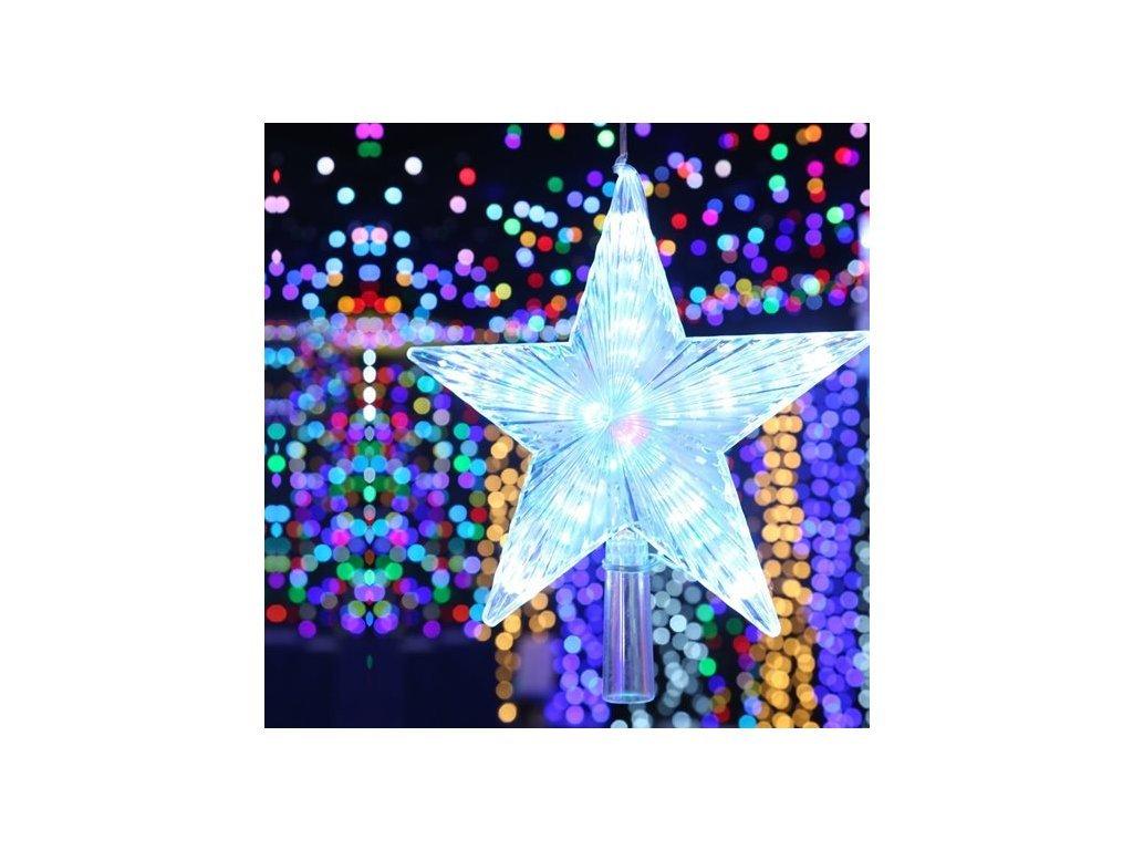 Vánoční LED digitání dekorace - Hvězda Topper Strom 12 cm