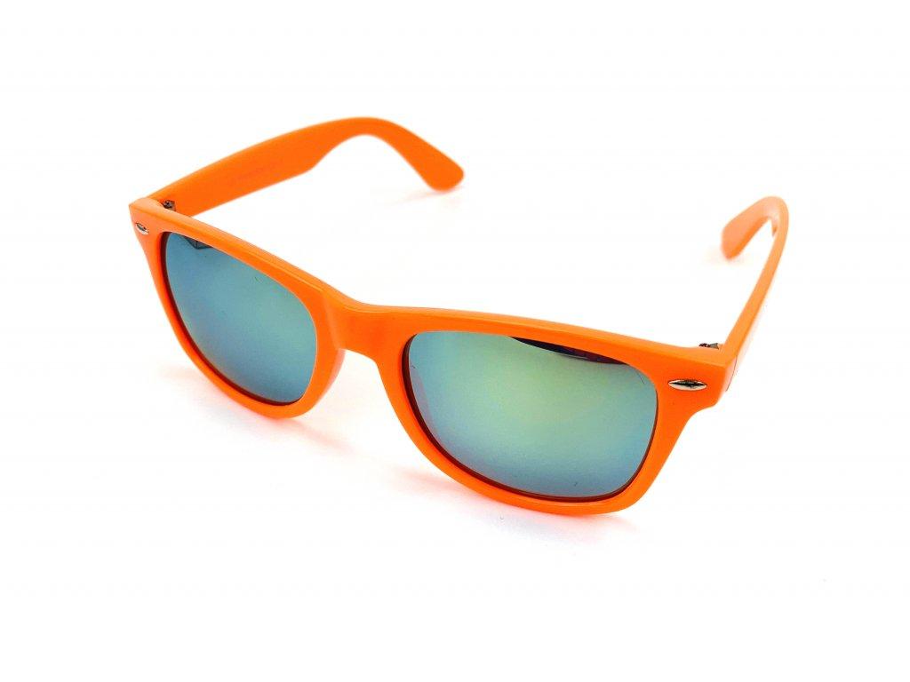 61410 slunecni bryle wayfarer zrcadlove oranzove obroucky