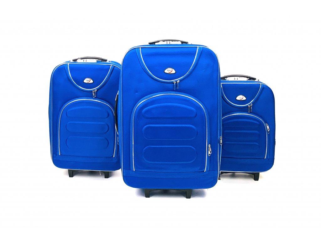 133907 1 cestovni kufr modry s kompasem sada 3ks