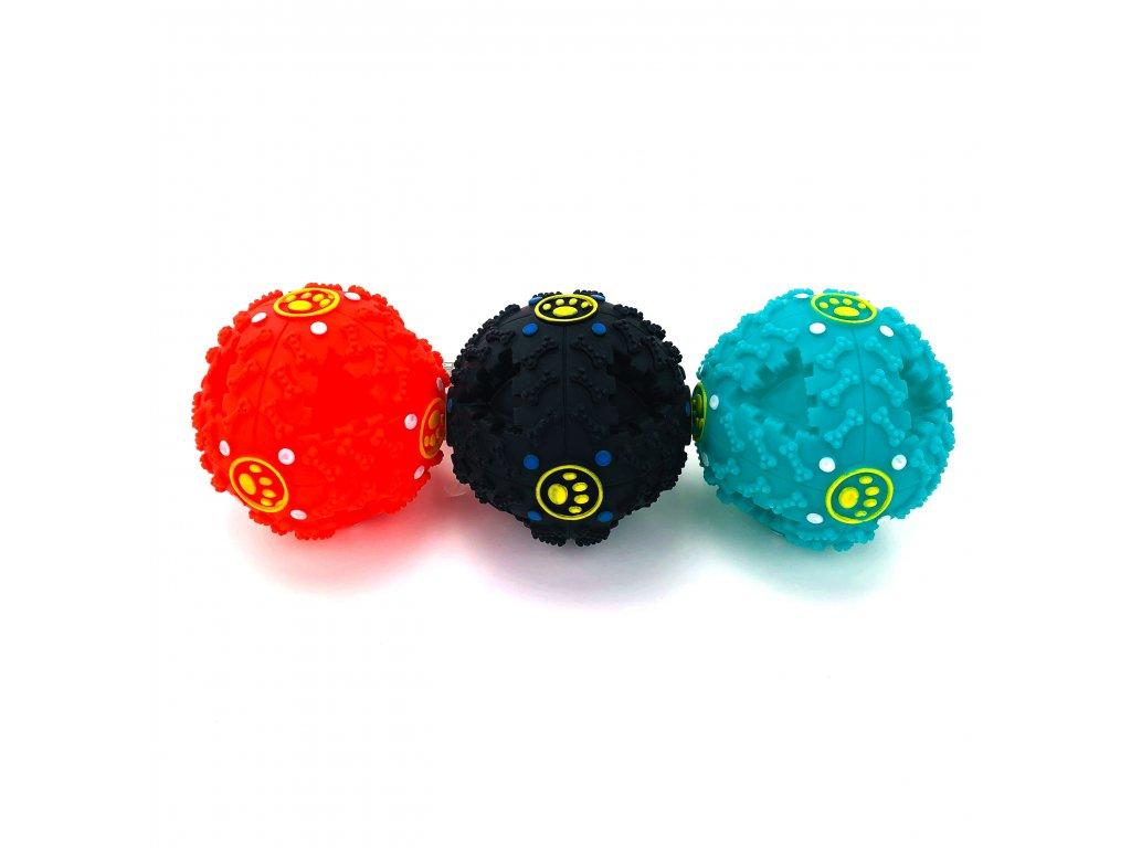 134051 gumovy micek se zvuky ruzne barvy 10 cm