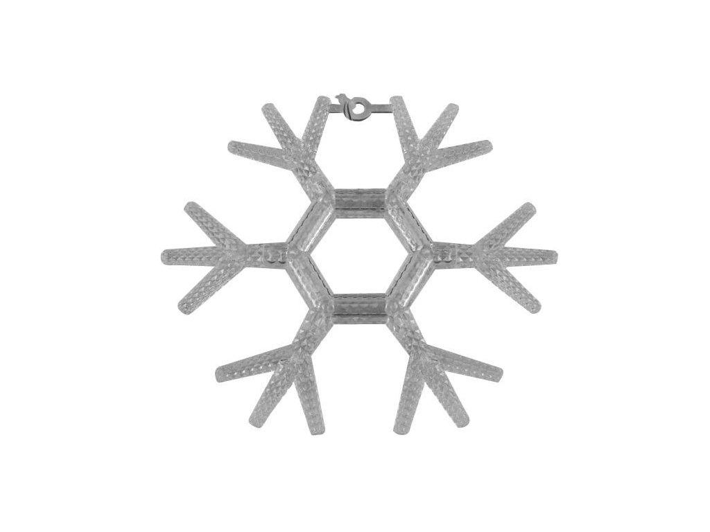 Vánoční LED dekorace - Vločka (Barva Teple bílá)
