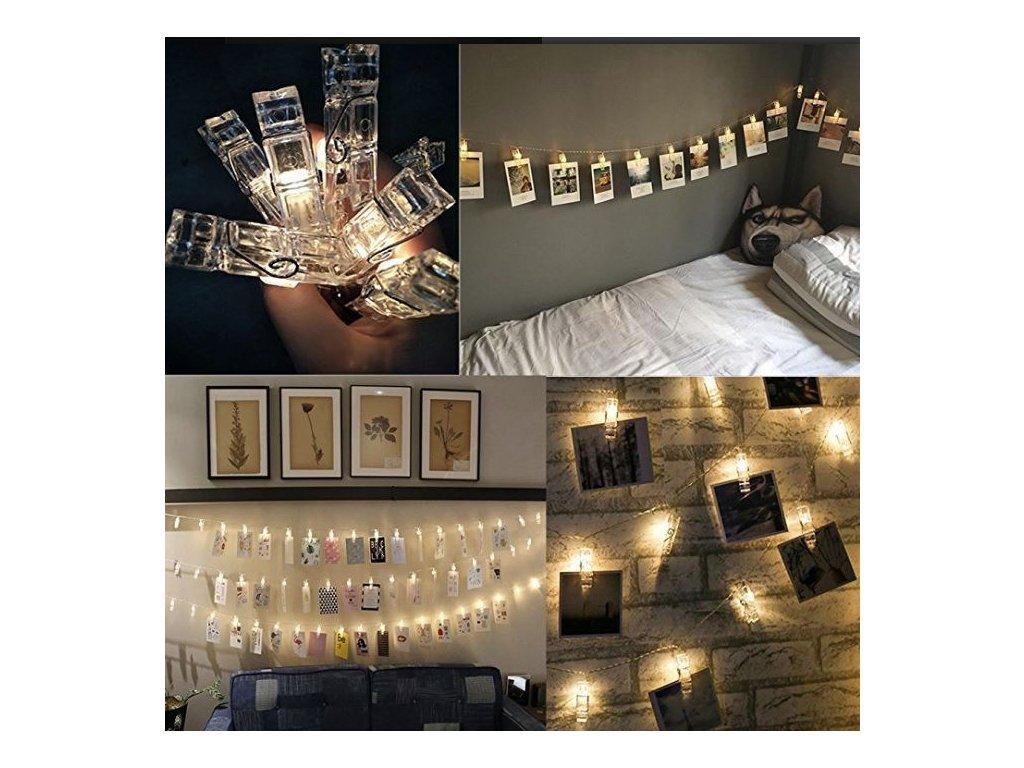 LED svítící kolíčky (Osvětlení Studená bílá 2m)