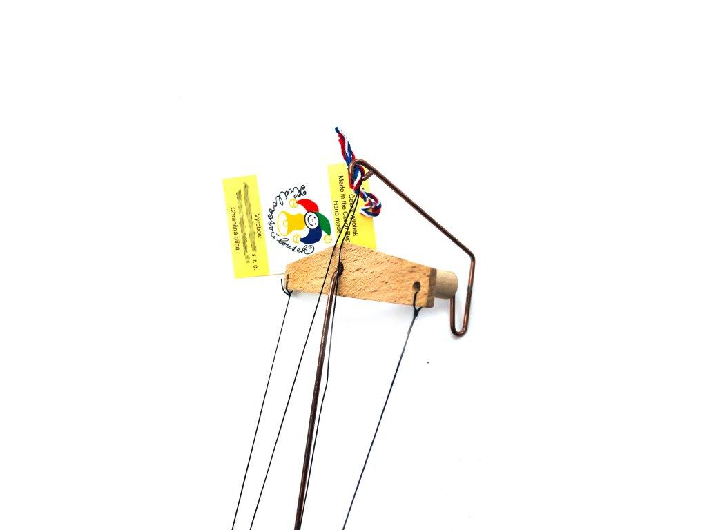 152804 2 drevena loutka manicka 22 cm