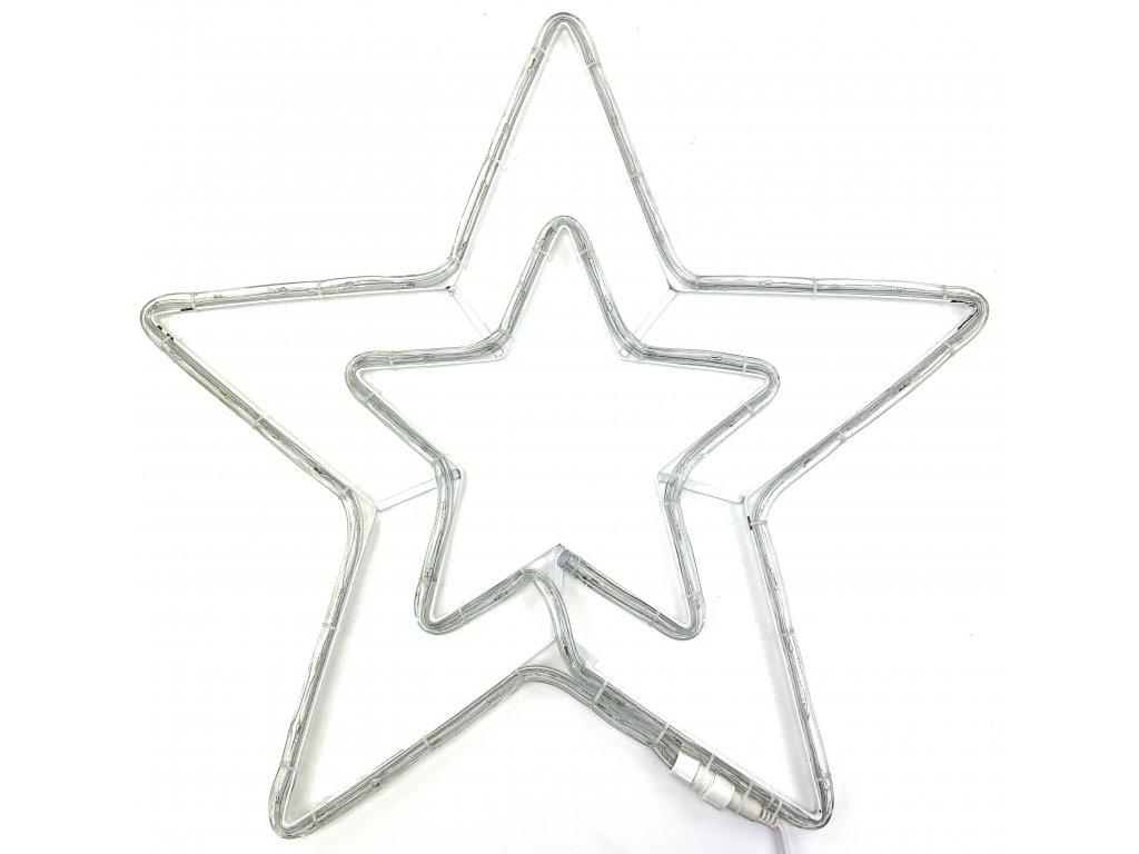 Vánoční LED dekorace - Hvězda 54 cm (SVÍTÍCÍ) (Barva Modrá)