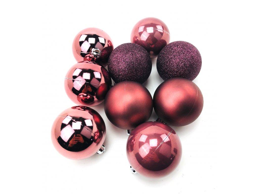 Vánoční koule MĚDĚNÉ - různé velikosti (Vánoční dekorativní koule Velikost 2cm - 1x balení (12x koule))