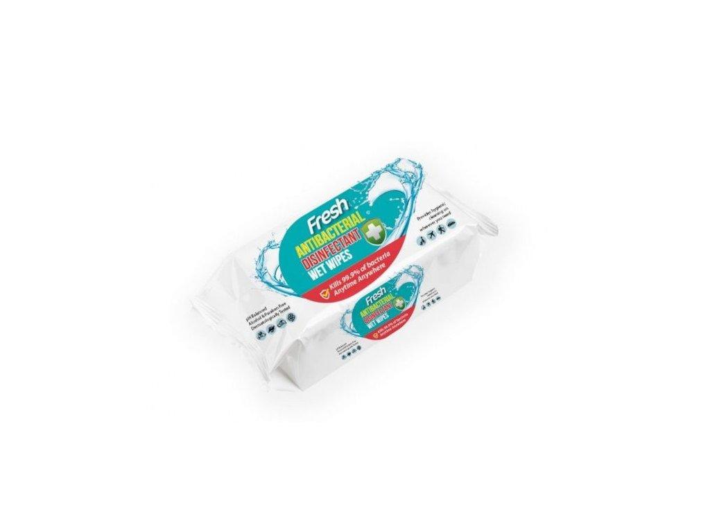 Antibakteriální vlhčené ubrousky - 120 ks